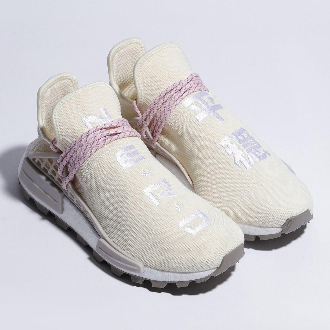 Pharrell adidas NMD Hu NERD Cream White Pink EE8102 | Adidas