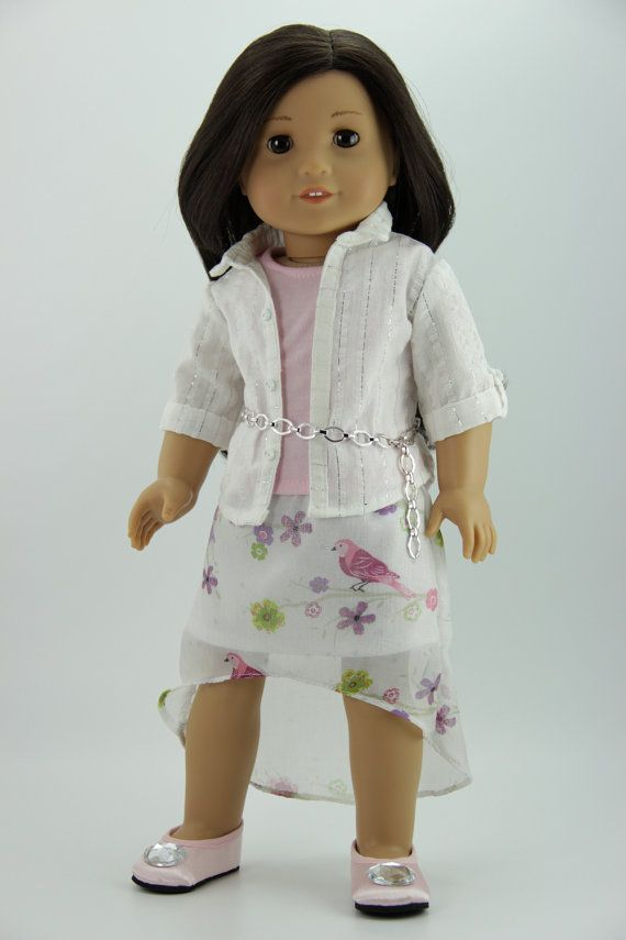 American Girl doll clothes - 4 piece high-low skirt outfit (fits 18 ...