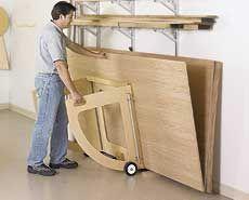 3 ways to better handle sheet goods woodworking plan for Sheet goods cart