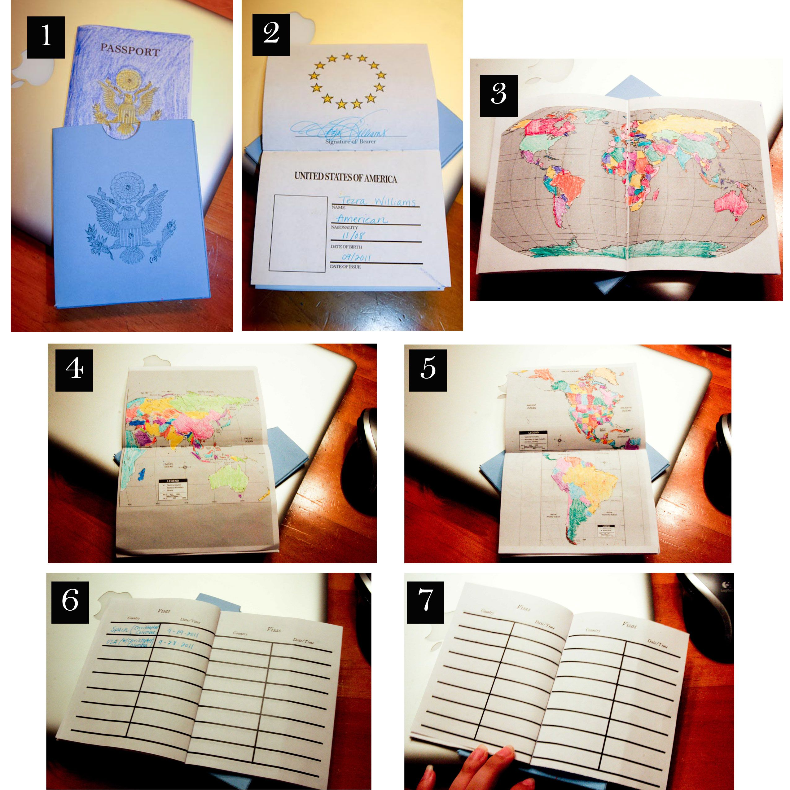 free printable passport from supermombyday com use this to keep