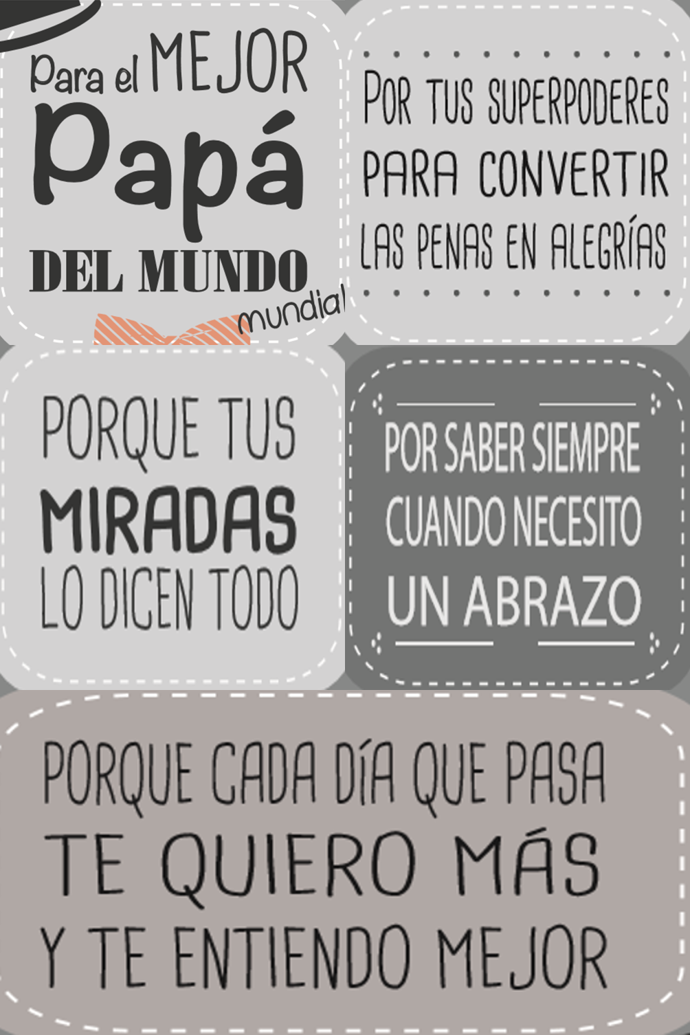Cubo Dia Del Padre Hoja 1 Feliz Dia Del Padre Frases Dia Del