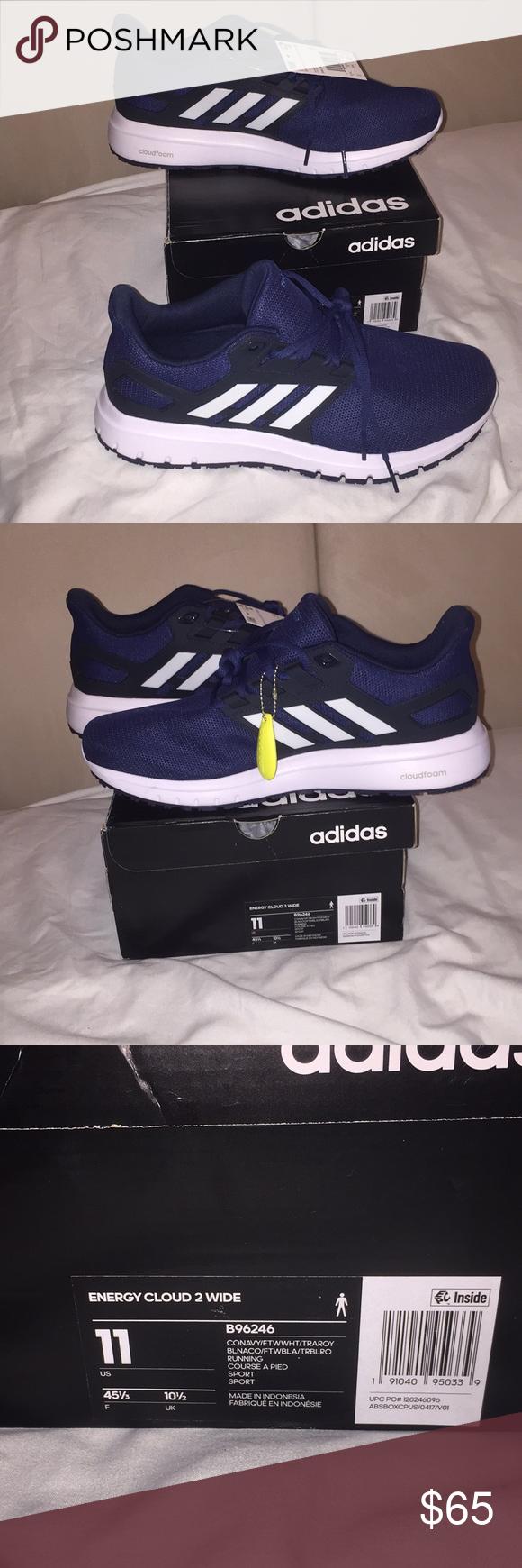 Nwt Men S Adidas Energy Cloud 2 Running Shoes 11w Clothes Design Fashion Design Blue Adidas