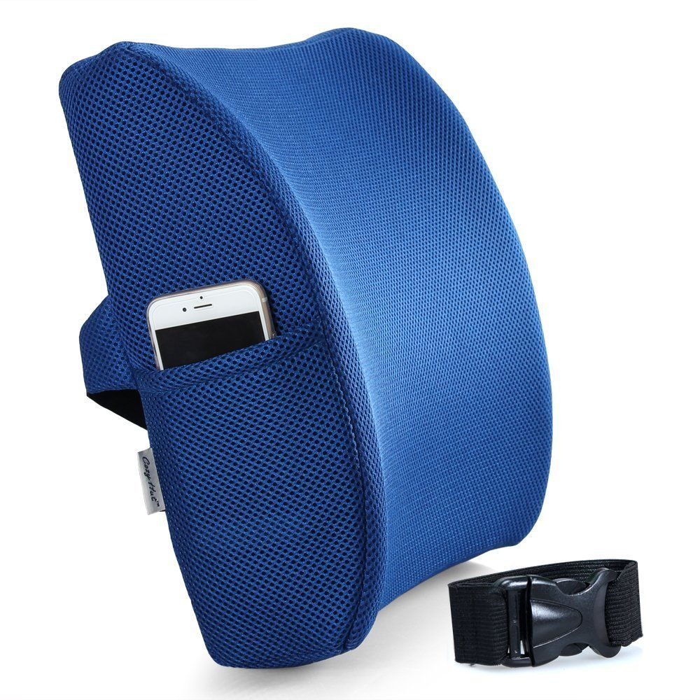 Car seat cushion for lower back pain