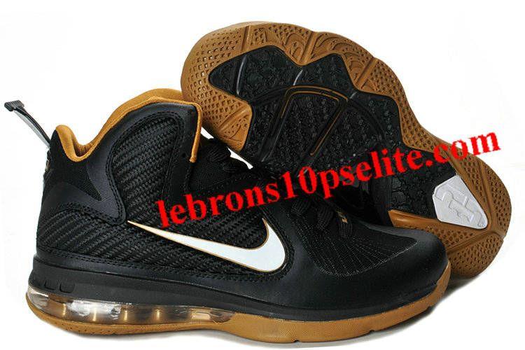 timeless design dab51 3be07 Nike Zoom LeBron 9(IX) Black White Gold