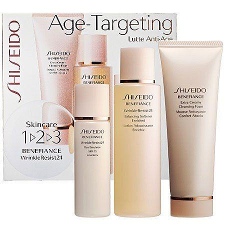 Shiseido Skincare 1 2 3 Benefiance Wrinkleresist24 Click Image For More Details Skin Care Shiseido Skin Care Kit