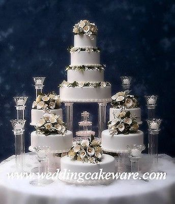 9 Tier Cascading Fountain Wedding Cake Stand Stands Set Tiered Wedding Cake Fountain Wedding Cakes Wedding Cake Stands