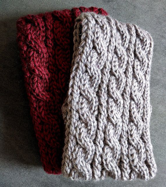 Chunky Cable Knit Ear Warmer Pattern Knitting Patterns For Women