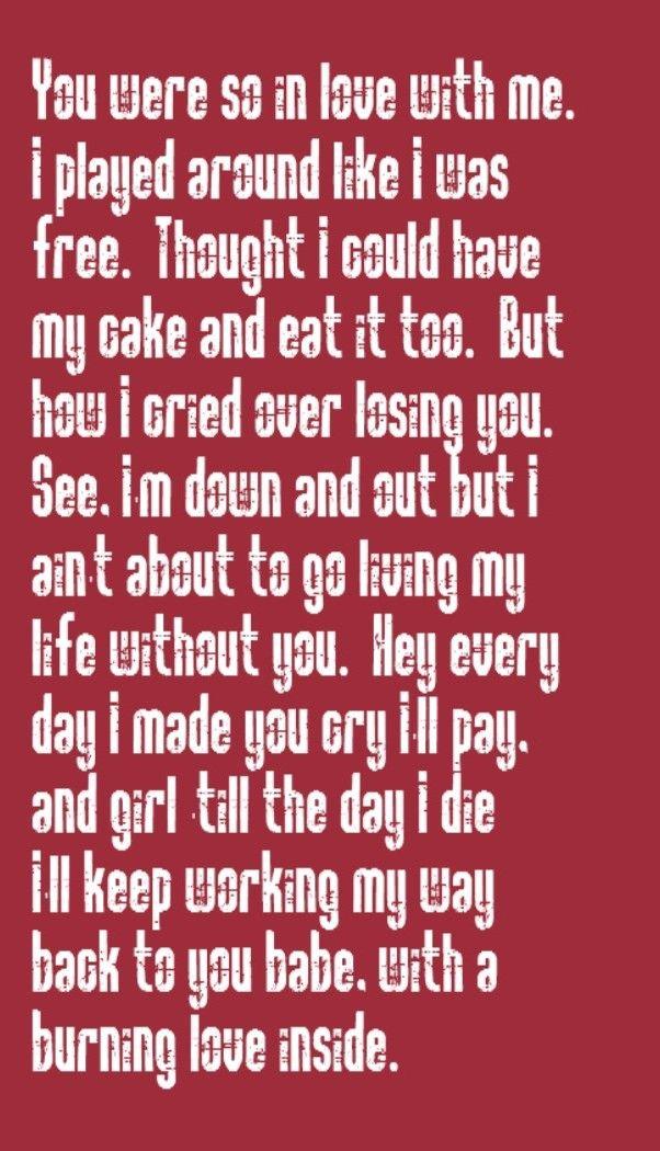 Working my way back to you lyrics