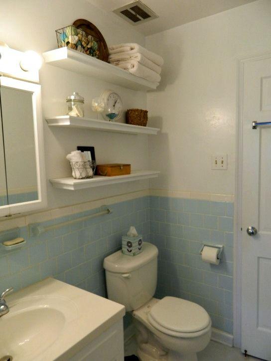 floating shelves above the toilet for the home pinterest bathroom storage and toilet. Black Bedroom Furniture Sets. Home Design Ideas