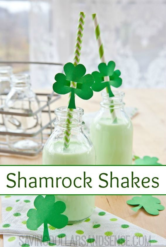 Homemade Shamrock Shakes cost a fraction of the price and minus all the junky extra ingredients