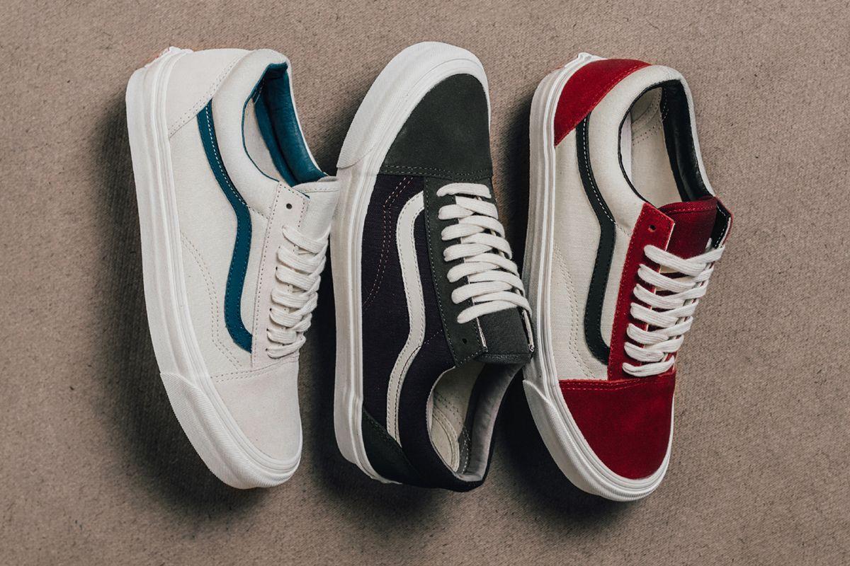 Vans Vault Suede Canvas Old Skool Collection Eu Kicks Sneaker Magazine Trendy Womens Shoes Sneakers Fashion Vans Old Skool