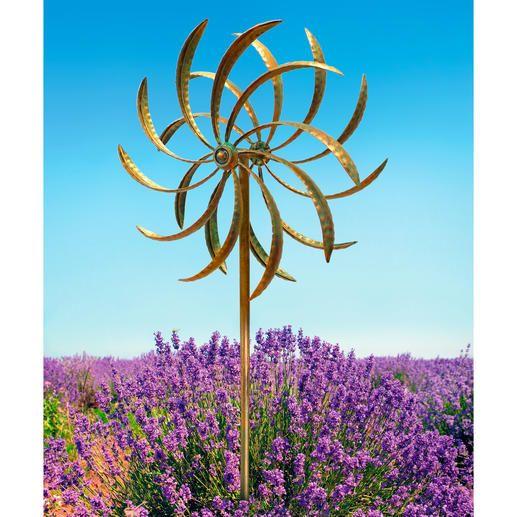 Windspiel Duett Zwei Gegenlaufige Windrader Werden Zum Magischen Blickfang Wind Spinners Windspiele Garten Windspiele