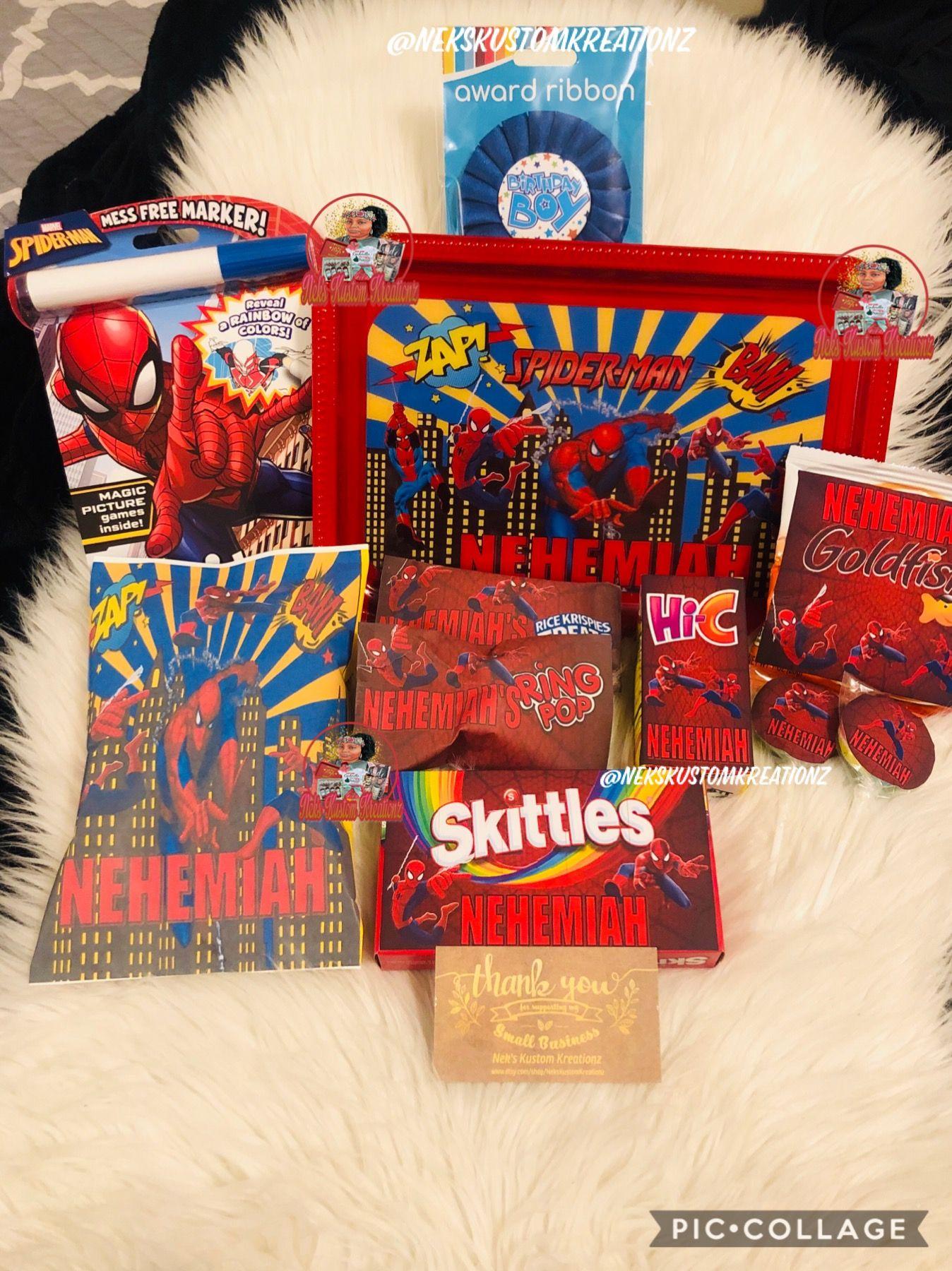 Spider Man Birthday Box Spiderman Birthday Birthday Box Birthday Gifts