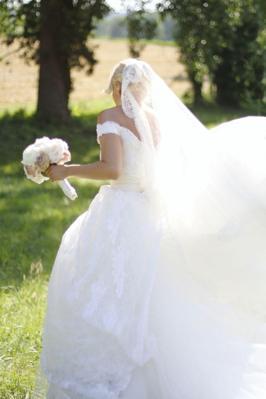 Hélène & JeanStephan   Film & Photography - @mariemarrymeinc   Wedding Gown & Shoes - @rosaclara   Wedding Planner & Designer - @HappilysEvents #bride#mariée#naturallight#veil#robedemariée#bridal#gown#mariage#wedding#dentelle#tulle#bouquet#chic#vintage #happilysevents #chateaudepuyrobert#mariemarryme