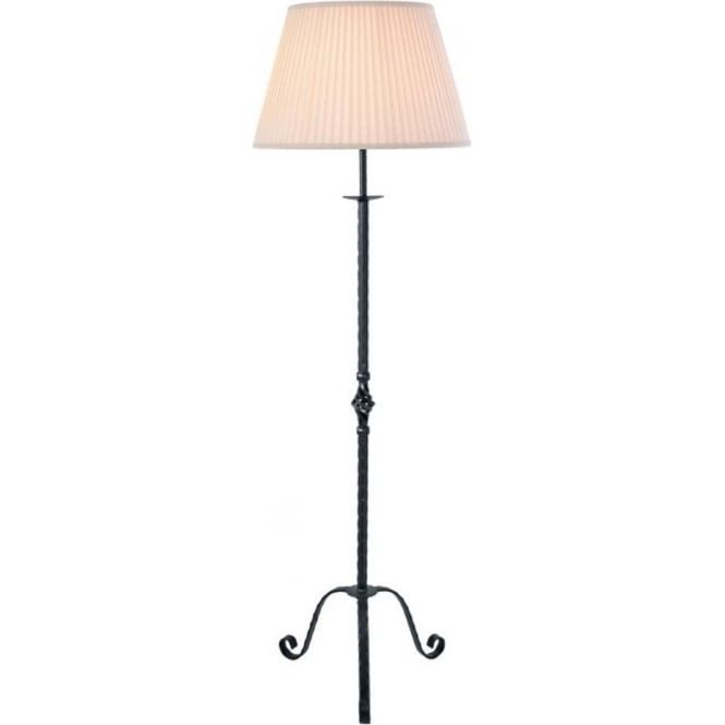 Wrought Iron Floor Lamps Prepossessing The Pembroke Traditional Standard Floor Lamp In Black Forged Wrought Review