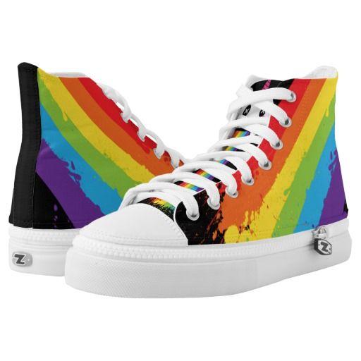 huge selection of 46da6 b1d8b Gay Unicorn Rainbow Splat LGBT Pride Printed Shoes