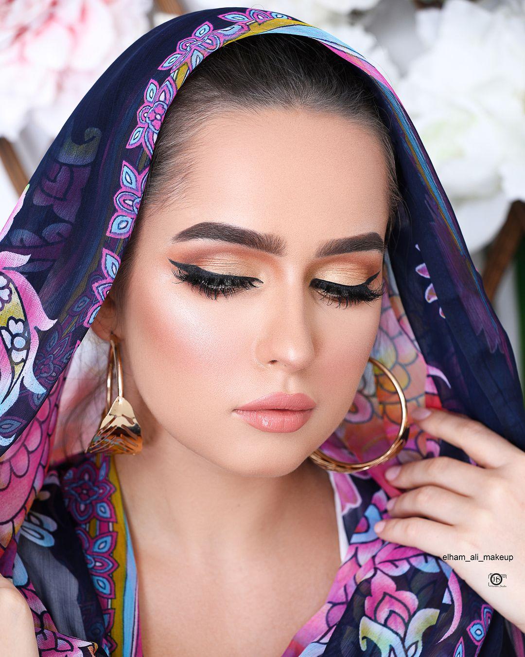 انا عن نفسي حبيت وايد اللوك وأنتو مكياجي Elham Ali Makeup تصوير المبدعة Haneen Studio المودل Ja Glowing Makeup Makeup Looks Beauty Women