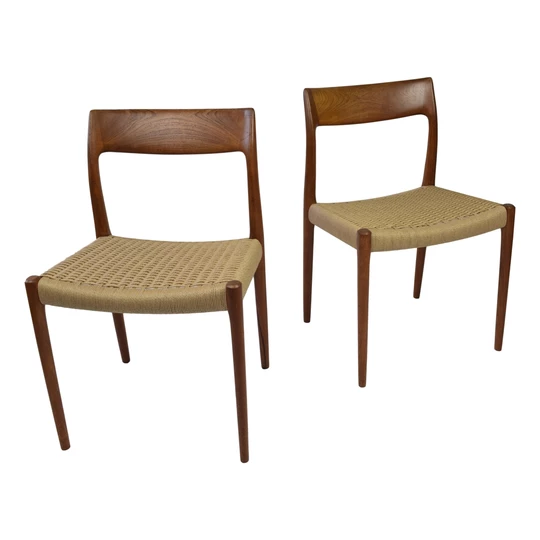 Niels O Moller Model 77 Teak Dining Chairs Model 77 Produced By J L Webb S Mid Century