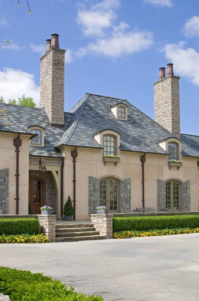 Jack Arnold Le Jardin Slate Roof French Country Exterior French Country House Different House Styles