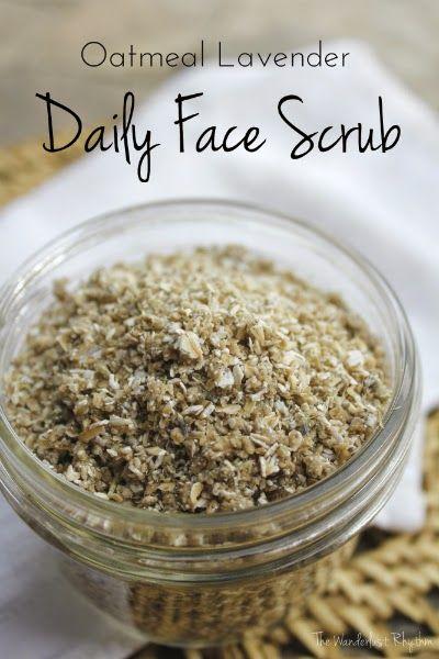 The Wanderlust Rhythm: Homemade Oatmeal Lavender Daily Face Scrub