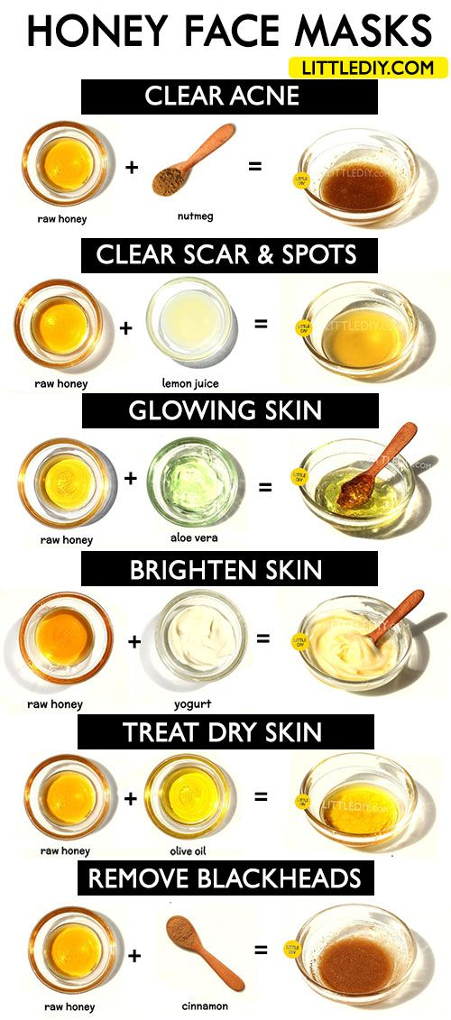 HONEY FACE MASKS for clear, bright and glowing skin - LITTLE DIY -   11 skin care Best simple ideas