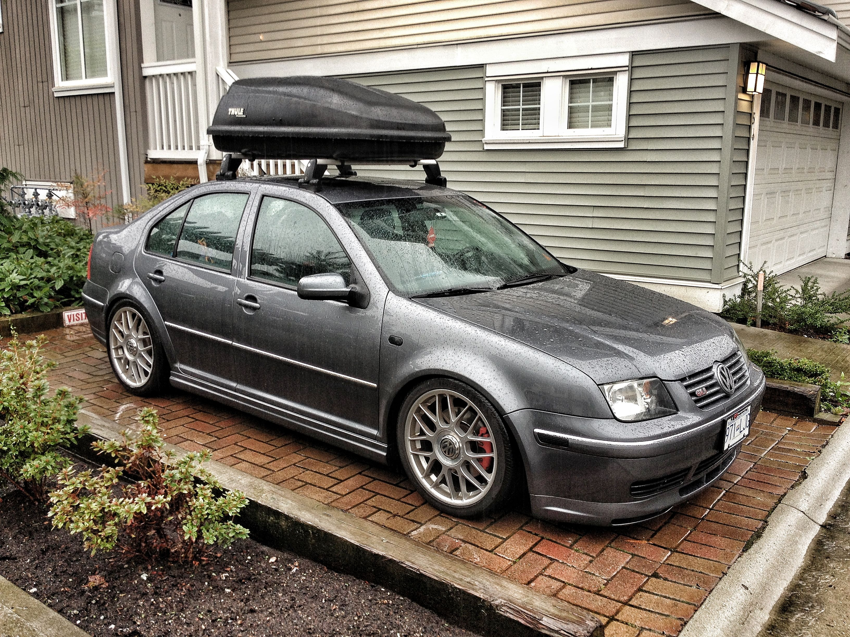 Vw gli mk4 jetta thule excursion carrier lowered gli jetta vw