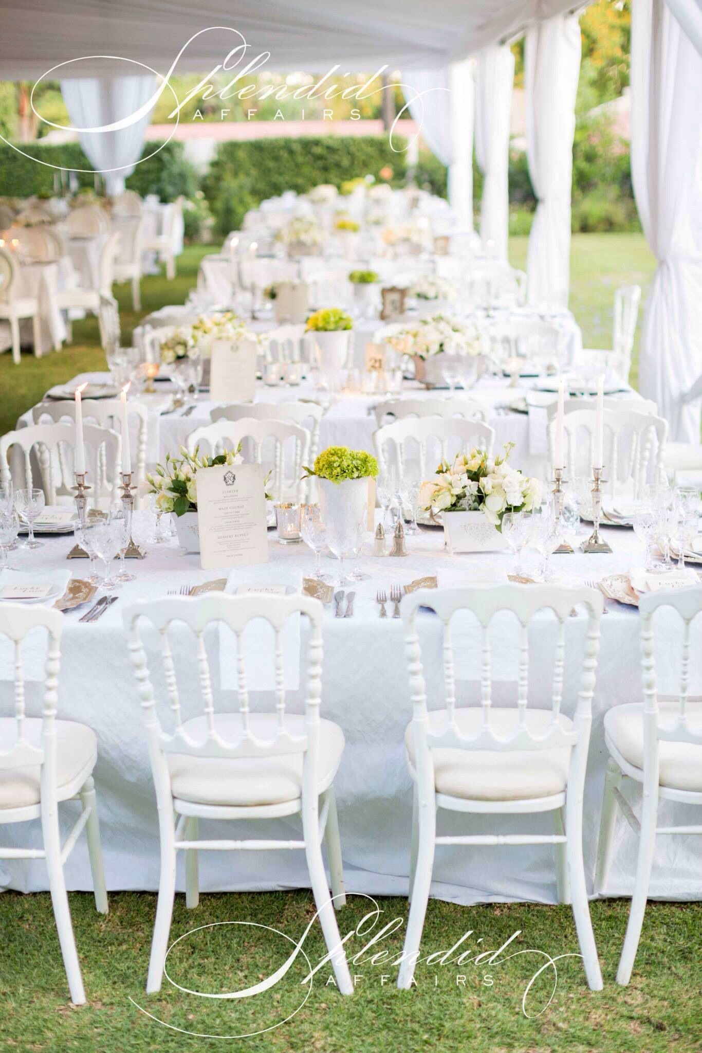 Garden event decor  Love the chairs  Party and Event Decor u Table Settings  Pinterest