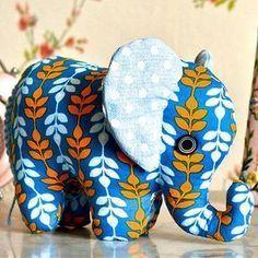 kostenloses Schnittmuster Elefant (ohne Anleitung) #sewtoys