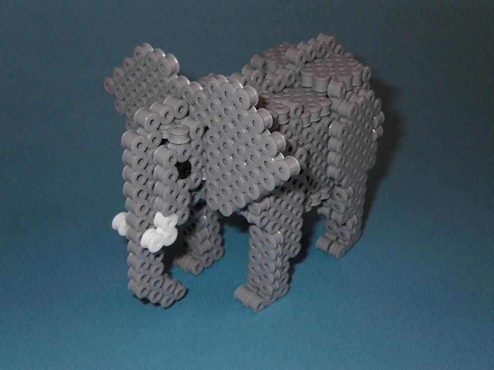diy 3d elephant perler photo tutorial cross