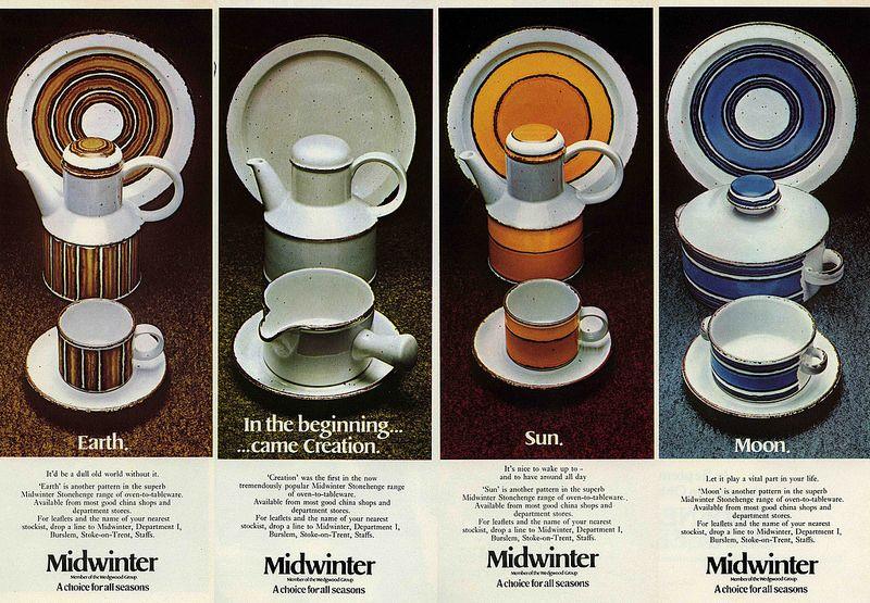Midiwnter Stonehenge Pottery By Eve Midwinter Pottery Modern Dinnerware Vintage Housewares