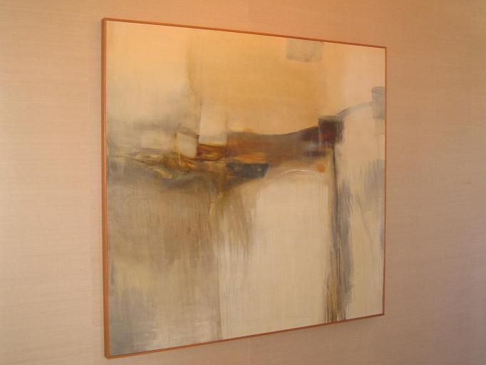 Abstract painting and neutral colors personally i tend for Modern neutral paint colors