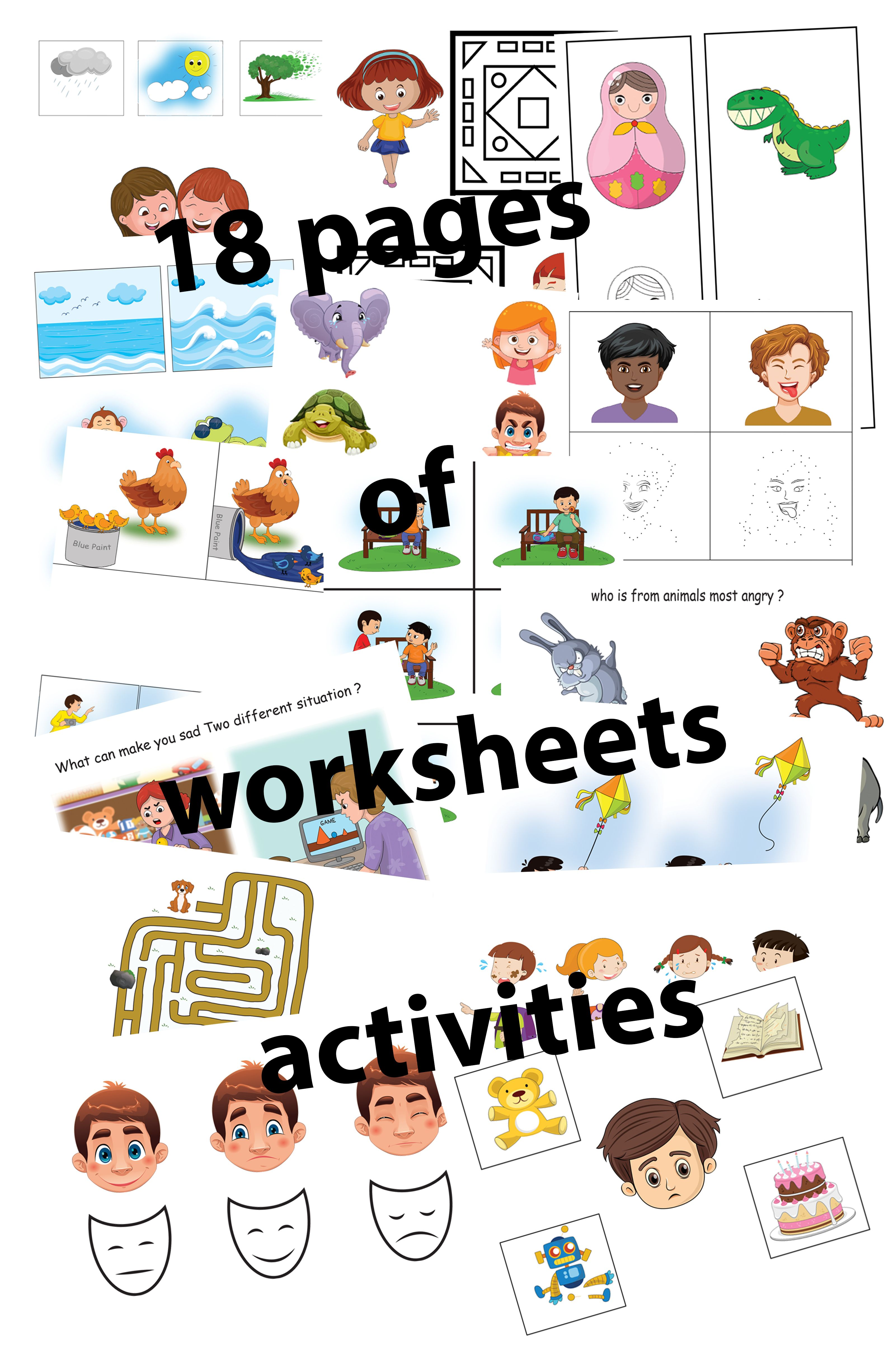 Outstanding Worksheets About Emotions For Book 1