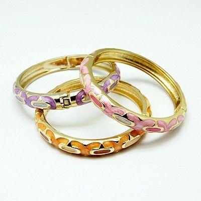 Fashion Zinc Alloy Bangles, with Enamel, Lead Free, Cadmium Free & Nickel Free -- Jewelish.com