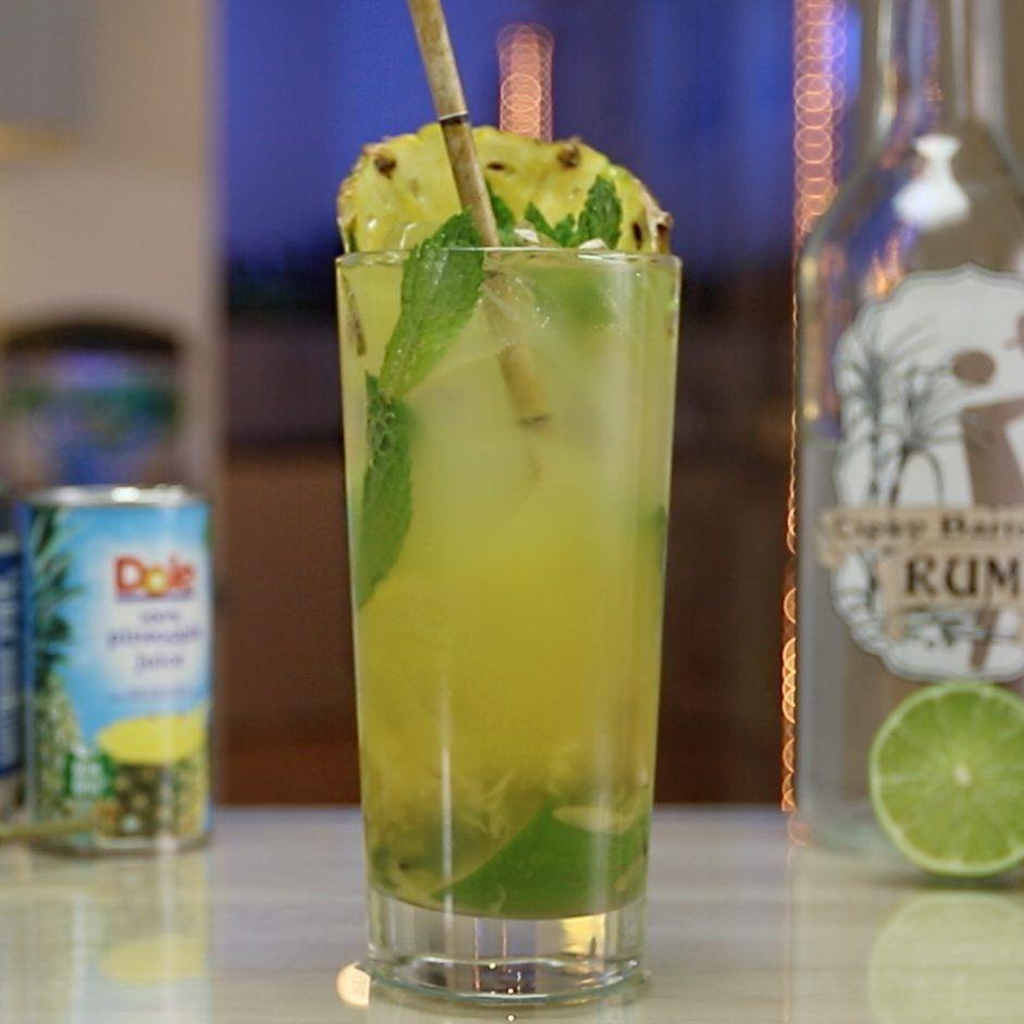 Pineapple Mojito Tipsy Bartender Recipe Pineapple Mojito Mojito Recipe Mojito