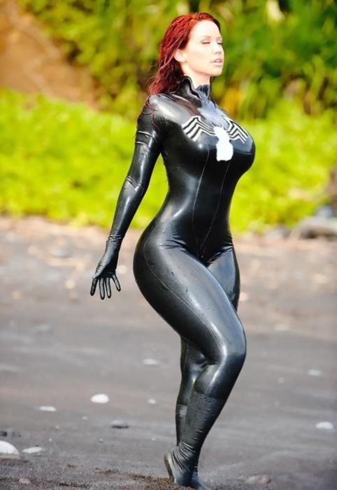 Spider man suit black latex