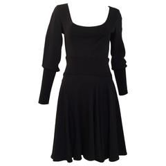 ALAIA black long sleeve sweater dress
