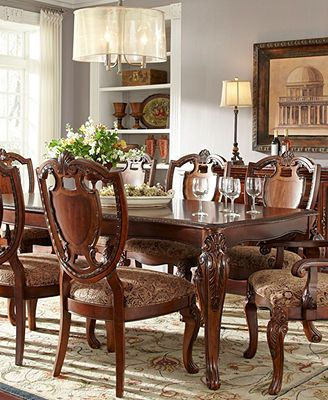 royal manor dining room furniture, 9 piece set (table, 6 side