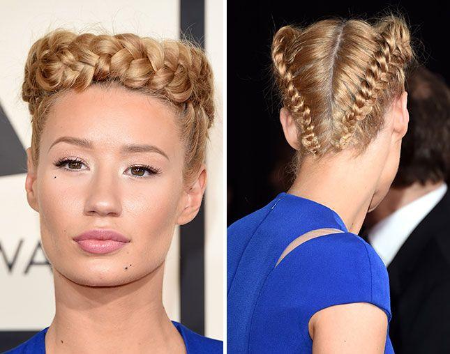 10 Crown Braids Iggy Azalea Should Have Worn To The Grammys Hair Styles Celebrity Hairstyles Braided Hairstyles