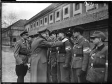 Hitler awards members of Hitlerjugend with Iroc Crosses 2nd class for destruction of Soviet armoured vechicles. This picture is dated as of 20th of March 1945.