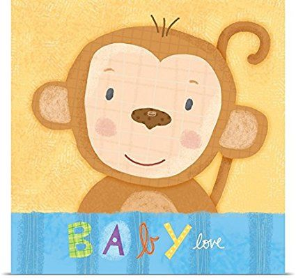 greatbigcanvas poster print entitled baby monkey by holli conger