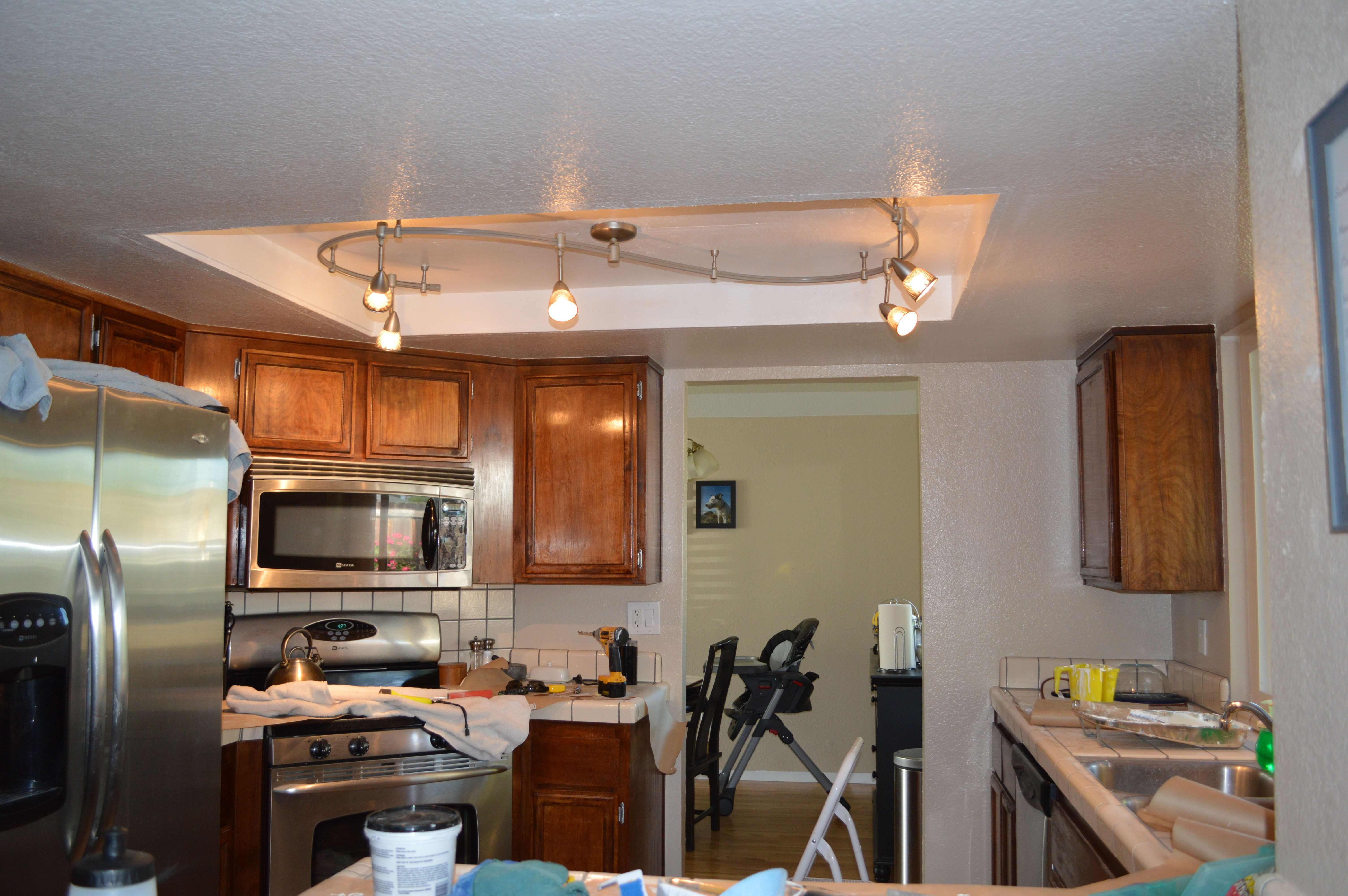 Fluorescent Kitchen Lighting Update Kitchen Lighting Kitchen Farmhouse Light Update I Think