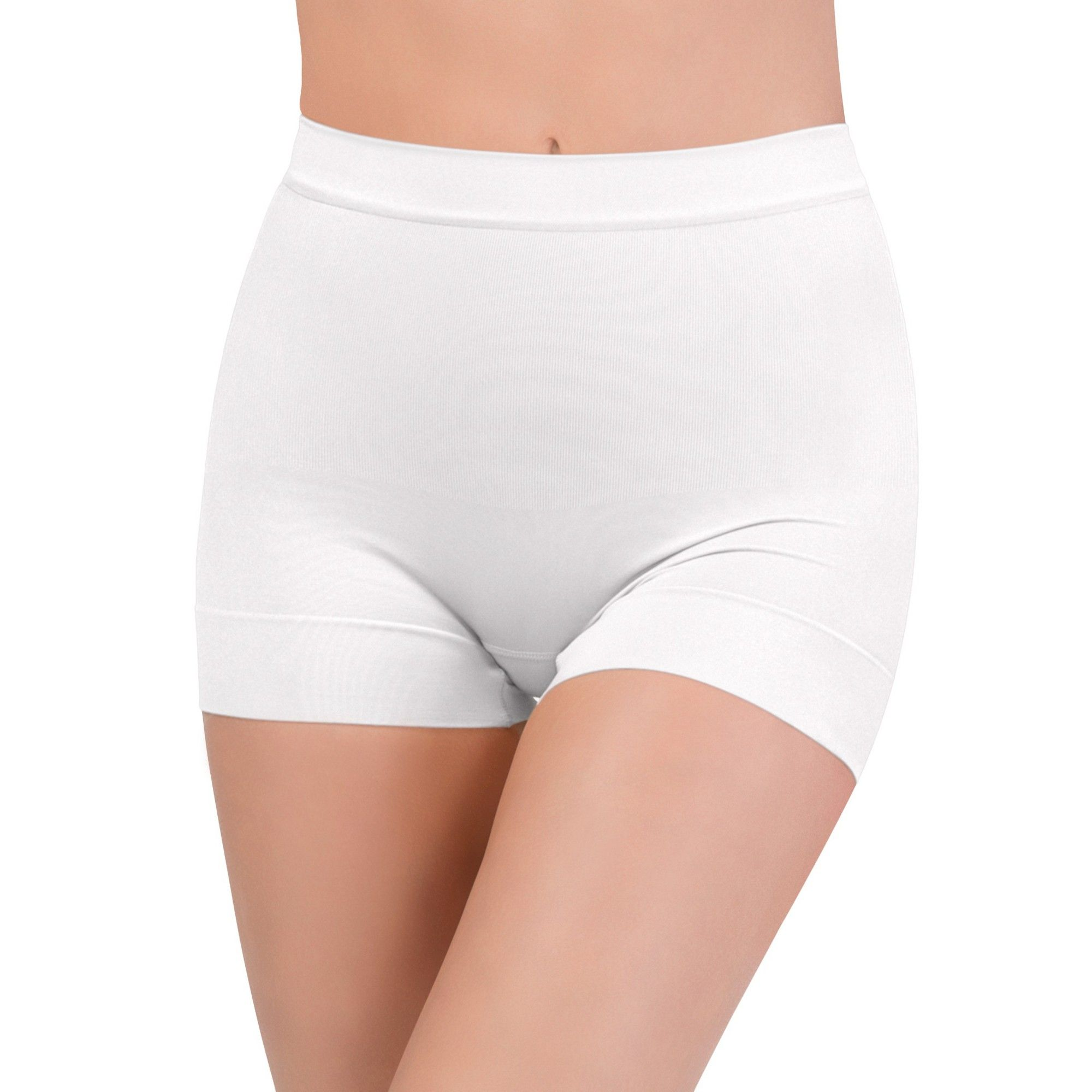 7a54afdeb08c0 Assets by Spanx Women s All Around Smoothers Seamless Shaping Girl Shorts -  White 1X