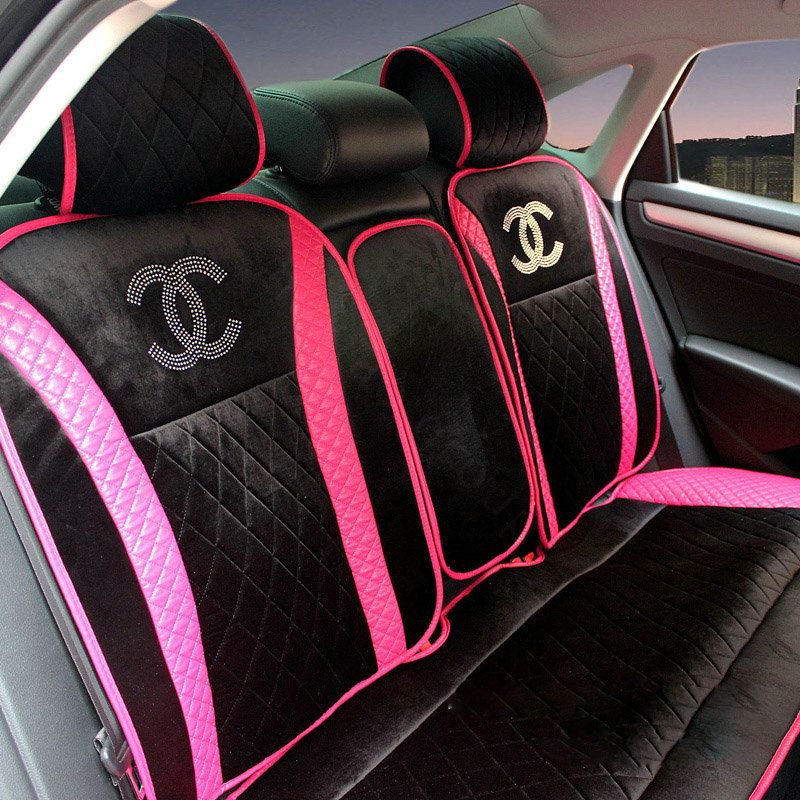 Buy Wholesale Luxury Chanel Universal Automobile Velvet Sheepskin Car Seat Cover Cushion Sets