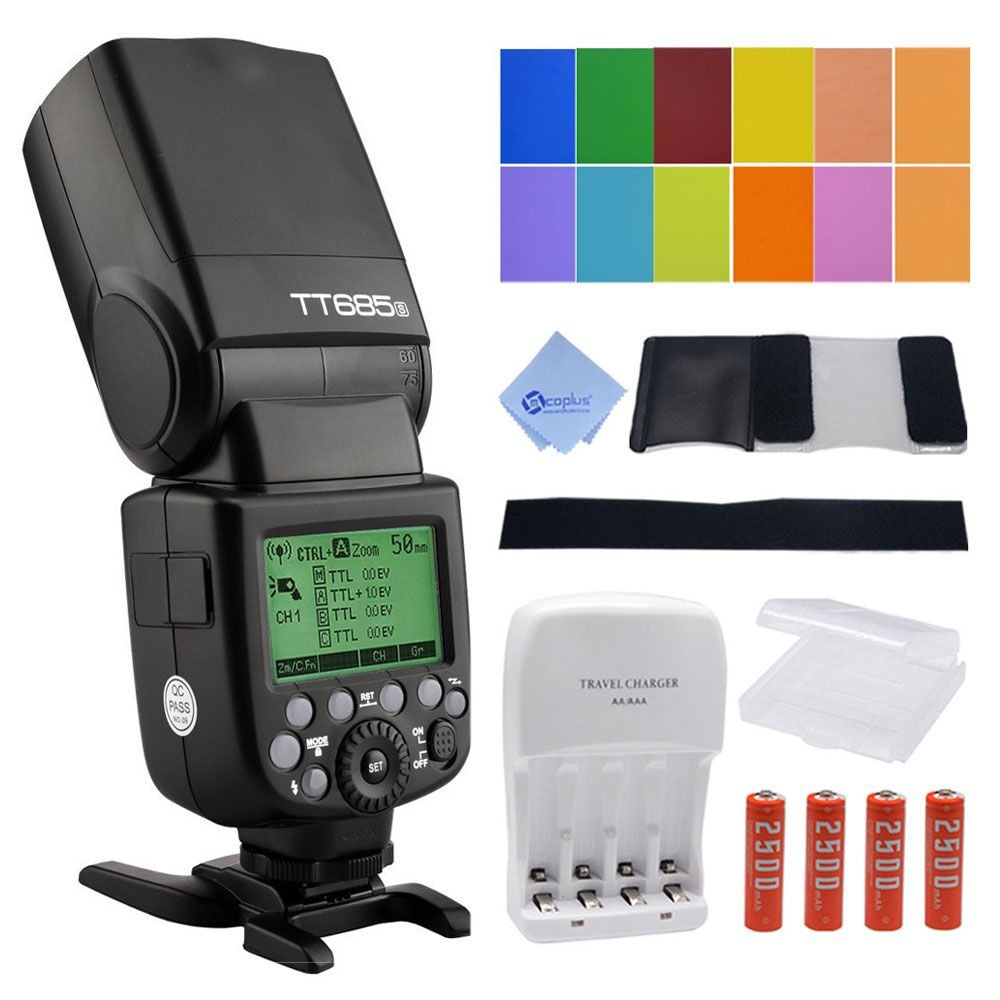 Godox Tt685s Hss 1 8000s Gn60 Ttl Flash Speedlite 230 Full Power Untuk Sony Flashes Auto Manual Zooming For Dslr Cameras A77ii A7rii