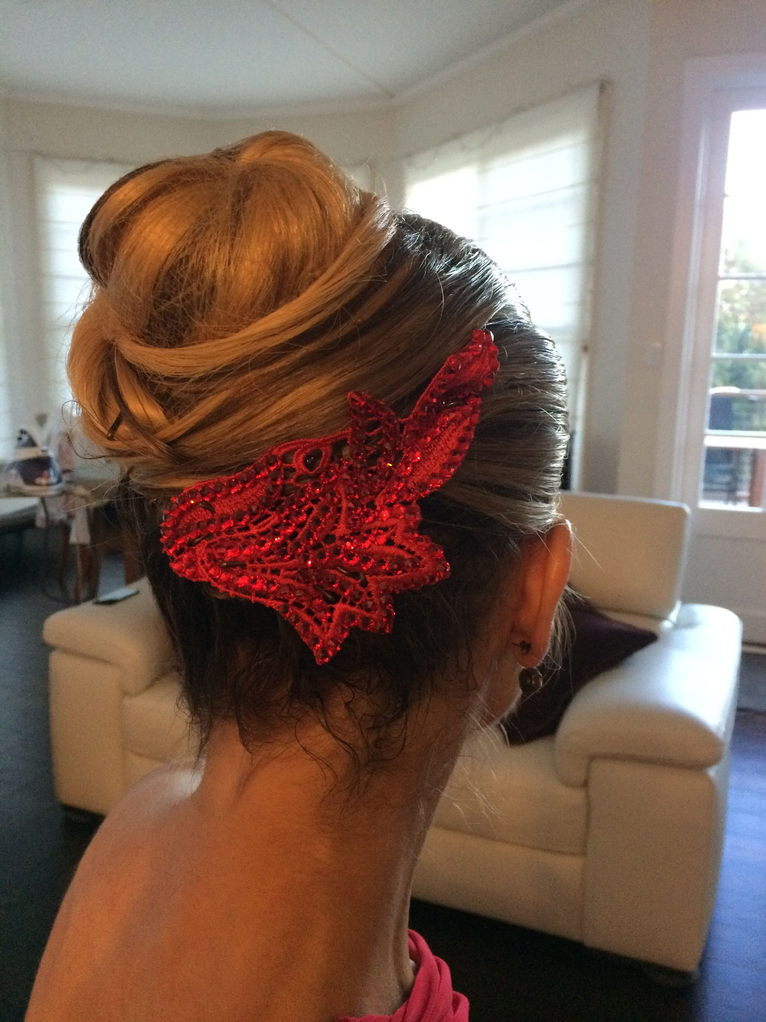 dance hair style worked beautifully for argentine tango