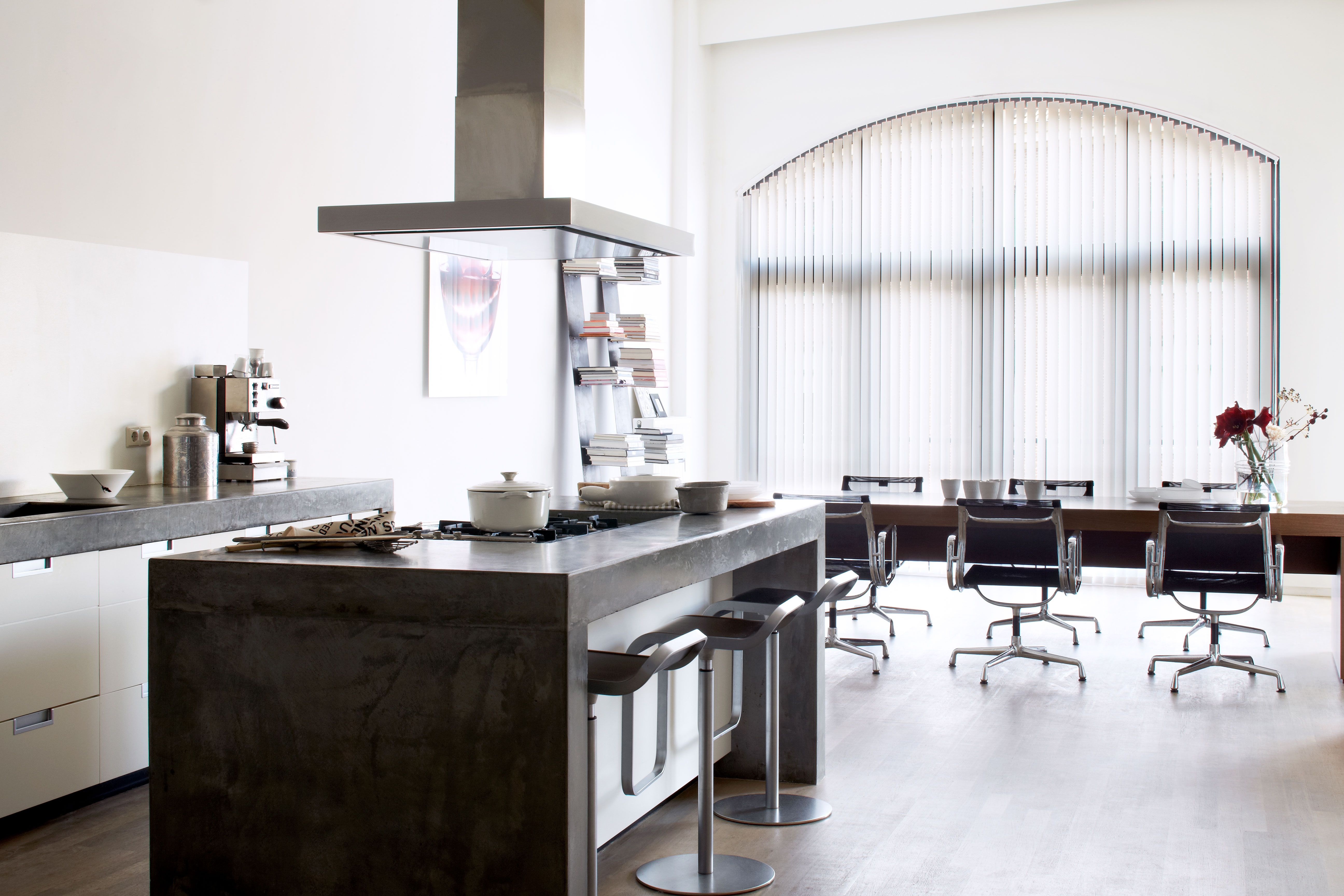 Verticalejaloezie bece raamdecoratie inspiratie keuken