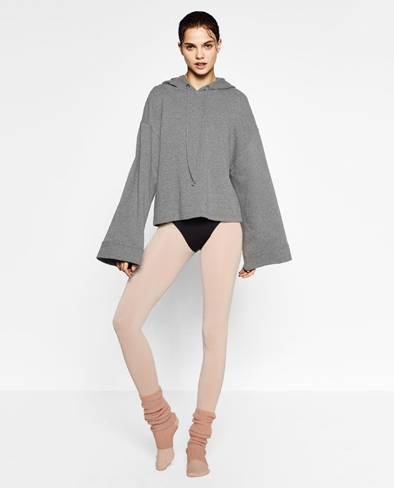 66fb1ce06 Image 1 of HOODED BALLET SWEATSHIRT from Zara