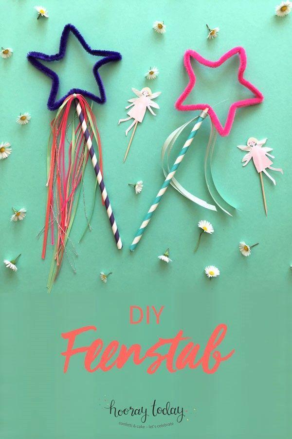 DIY-Feenstab für den Kindergeburtstag, Basteln mit Kindern, Feen-Party, Elfen, Kinder