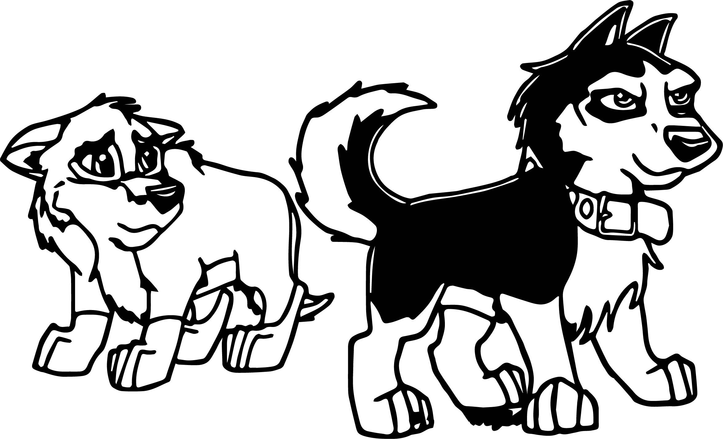 Nice Balto And Steele As Pups Wolf Coloring Page