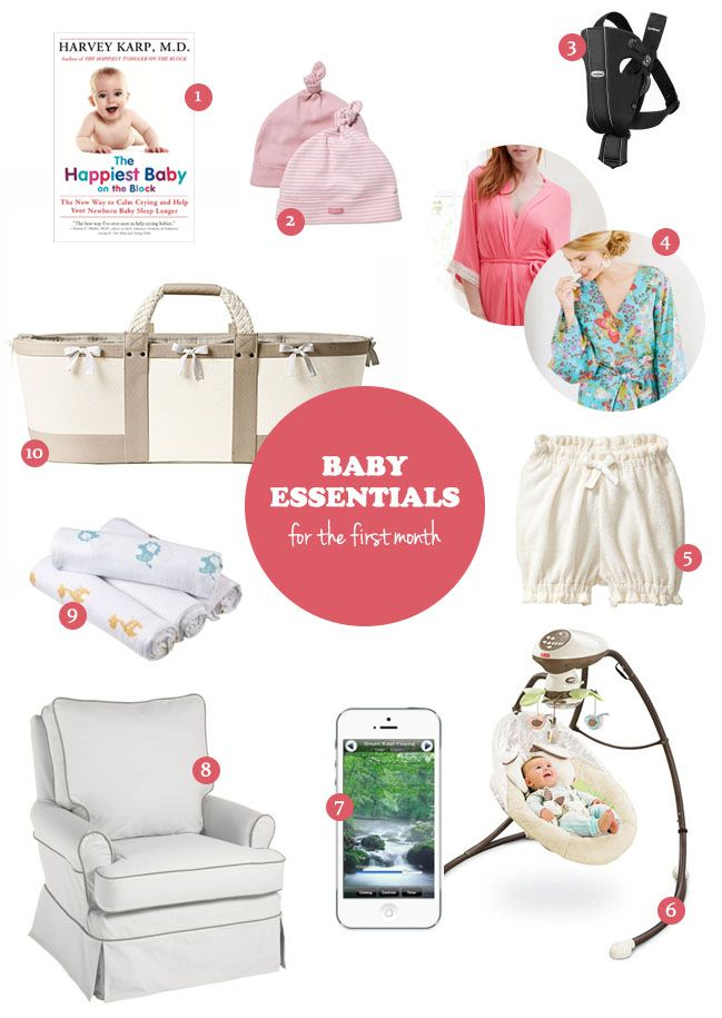 Baby Essentials for the First Month + Serena \ Lily Giveaway - baby registry checklists